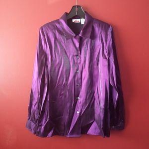 Dark Purple Alia Sz 10 Blouse